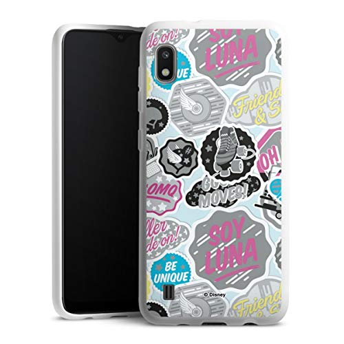 DeinDesign Silikon Hülle kompatibel mit Samsung Galaxy A10 Case weiß Handyhülle Soy Luna Disney Offizielles Lizenzprodukt