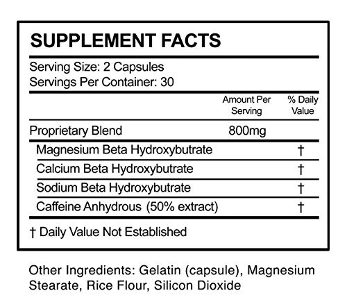 Nutra Life Keto - BHB and 800MG Proprietary Blend -60 Capsules - 1 Month Supply 2