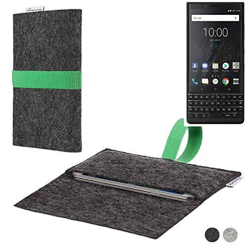 flat.design Handy Hülle Aveiro für BlackBerry KEY2 (Dual-SIM) passexakte Filz Tasche Hülle Sleeve Made in Germany