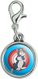 GRAPHICS & MORE Tom and Jerry Tom Character Antiqued Bracelet Pendant Zipper Pull Charm with Lobster Clasp