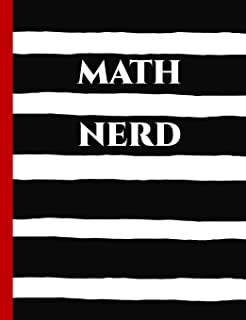 Math Nerd: Graph Paper Composition Notebook with 1/2-inch Grids