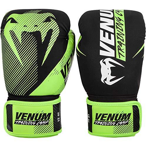 Venum Unisex– Erwachsene Training Camp 2.0 Boxhandschuhe, Schwarz/Neon Gelb, 12 oz
