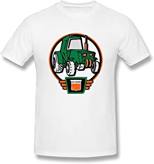 DATG Men's Casual Little Oliver Tractor Driver Design White T-Shirts