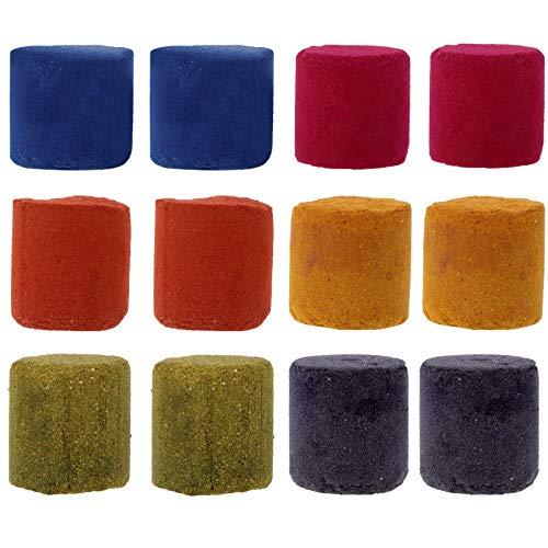SOLUSTRE 12Pcs Pastel de Humo de Polvo de Polvo Colorido para Fotografía Aerosol Efecto Floreciente Estudio de Fondo Apoyos