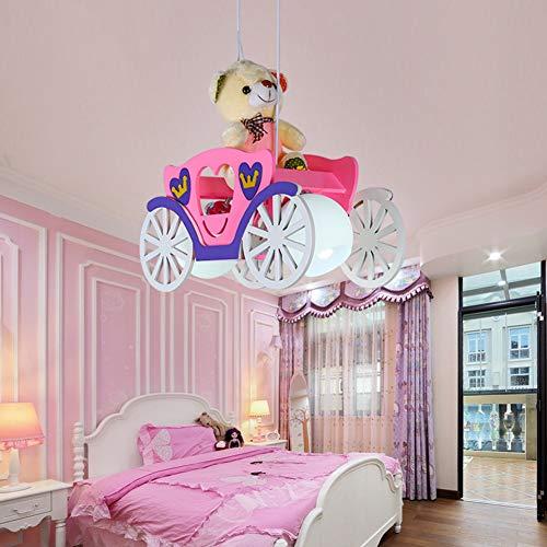 Lámpara de techo para habitación de los niños, color azul y rosa, rosa