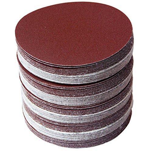 30 discos de papel de lija de 150mm, discos redondos de papel de lija, grano 80/100/120/180/240/320, disco de lija para lijadora