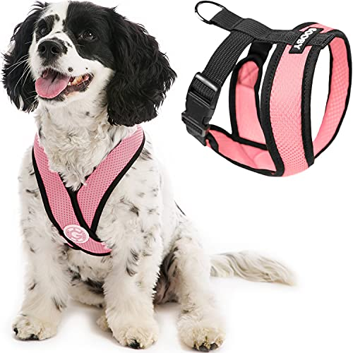 Gooby Comfort X Head in Harness - Pink, Small...