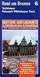 Rund um Bremen 1 : 100 000. Deutsche Ausflugskarte. Blatt 6. -