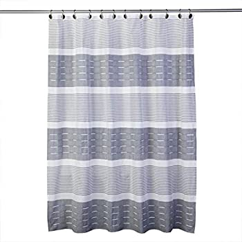 SKL HOME by Saturday Knight Ltd Pleated Stripe Shower Curtain Dove Gray