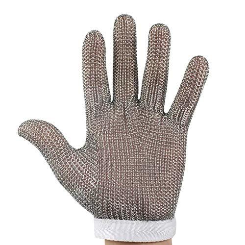 Schnittfeste Handschuhe 304L Edelstahl-Anti-Schneidhandschuhe, Restaurantküche Glasschneiden Holzschnitzel-Sicherheitsarbeitshandschuhe, Universal Für Linke Und Rechte Hände (Size : Medium)
