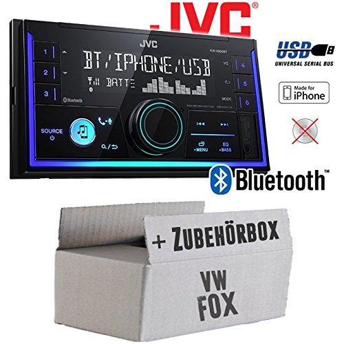 Autoradio Radio JVC KW-X830BT - Bluetooth MP3 USB - Einbauzubehör - Einbauset für VW Fox - JUST SOUND best choice for caraudio
