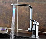 Grandey Temperature Sensor Intelligent Recognition Temperature Different Temperation Different LED Light Color Water Tap Faucet Shower