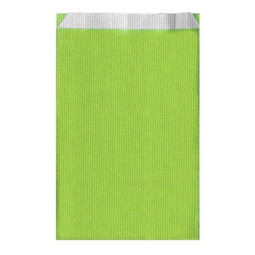 Garcia de Pou unité de 250 Sacs à Plat en boîte, 26 + 9 x 46 cm, Cellulose, Vert Anis, 26 x 46 x 30 cm