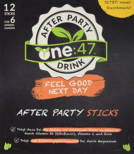 one:47 ® After Party Drink | 12 Sticks | Feel good next day | Natürlich feiern, natürlich fit | Die originale geschützte one 47 Formel