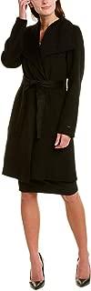 Women's Double Face Wool Wrap Coat with Optional Self Tie Belt