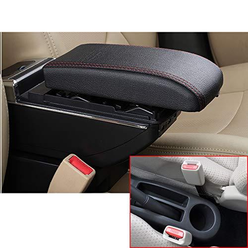 Per YARiS Di fascia alta Auto Bracciolo Accessori Con 7 Porte USB LED Incorporato Il corrimano può essere sollevato Nero