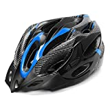 Huai1988 Casco de Ciclismo Para Adultos, Para Hombres Mujeres Casco de Protección Para Bicicleta Ajustable Para Adultos Con Visera Negra Para Monopatín Protección de Montaña Casco Unisex (Azul)