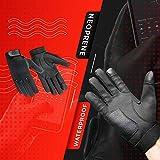 Hugger Men's 4 Finger Touch Screen Police Motorcycle Gloves...