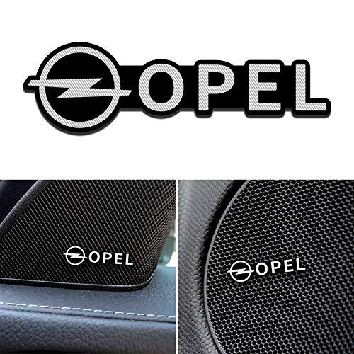 Etiqueta Engomada Del Emblema De La Insignia Del Altavoz De 4 Pc, Estilo Del Coche De Los Accesorios De Aluminio 3d, Para Opel