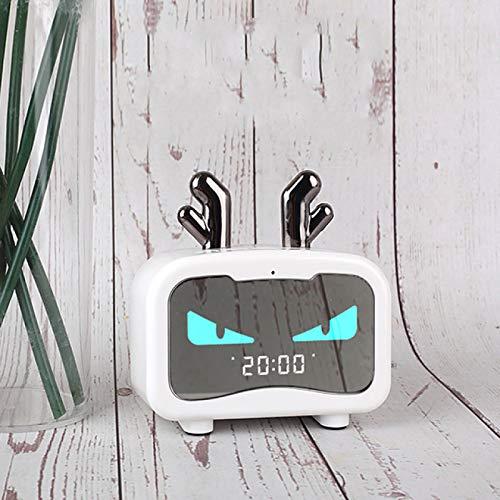 DZHTWSRYGR Wecker Lumie Wecker Neuer Smart Cute Pet Led Digitaler Wecker Totoro Bluetooth Lautsprecher mit Radio Wecker
