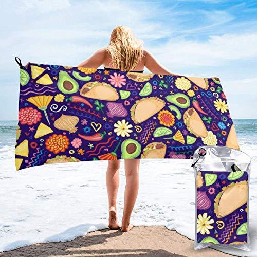 DFGHG Badtextilien Frottiertücher Strandtücher Quick Dry Beach Towel Funky Japanese Wallpape Microfiber-Sand Free-Lightweight Thin Bath Towels-27.5