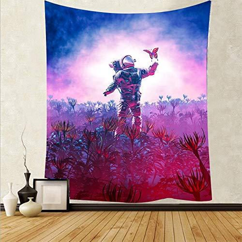 KHKJ Tapiz de Astronauta Universo Espacial Cielo Estrellado tapices para Colgar en la Pared Alfombra de Tela Toalla de Playa decoración A5 200x150cm