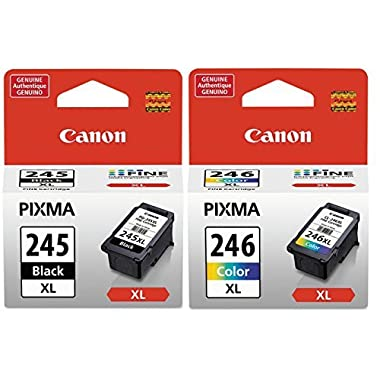 Canon PG245XL Black and CL246XL Color Ink Cartridge Set for PIXMA MG3020, iP2820, MG2420, MG2520, MG2924, TS202, TS3120