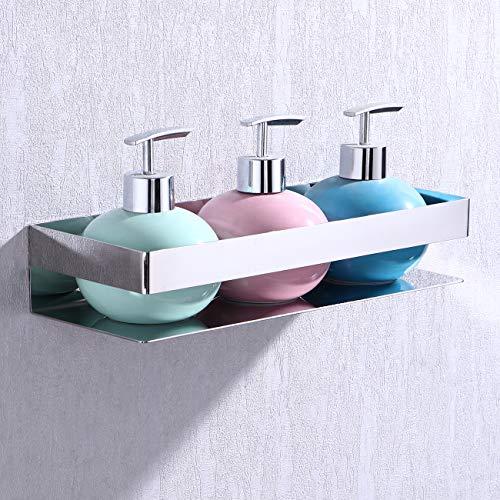 KES Bathroom Shelf Stainless Steel Bath Shower Shelf Basket Caddy RUSTPROOF Square Modern Style Wall Mounted Polished, BSC205S30A