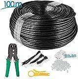 Multi-Cables CAT6 RJ45 100m, à l'extérieur Utiliser imperméable - CCA - Direct Burial Ethernet...