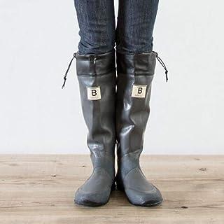 バードウォッチング長靴[ブーツ](収納袋付)グレーM
