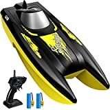RC Boat for Kids, SYMA Q9 Remote Control Boat for Pool and Lake with 2.4GHz 10km/h Speedboat, Double Power, Low Battery Reminder, Speed Boat Remote Control Toy Gifts for Kids or Adults