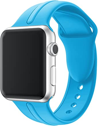 YASSUN Sport Band for Apple Watch 42mm/38mm, Soft Silicone Strap Replacement Wristbands for