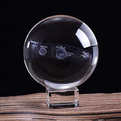 Speedy Panther - Bola de Cristal con Sistema Solar 3D, diseño de Planetas y Globo de Cristal Grabado con láser, 60 x 80 mm