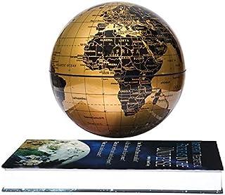 ETE ETMATE 6'' Magnetic Maglev Levitation Globe Rotating Book Style Base Auto-Rotation Changing LED Light Children Educati...