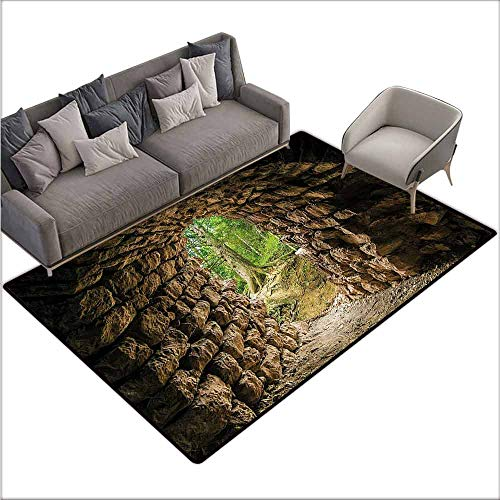 Kitchen Mat Forest,Archaic Tunnel in Woodland 64'x 96',Rugs for Sale