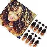 Eunice hair Ensemble de 8 extensions brésiliennes Cheveux brésiliens Cheveux frisés Tissage 100% naturel