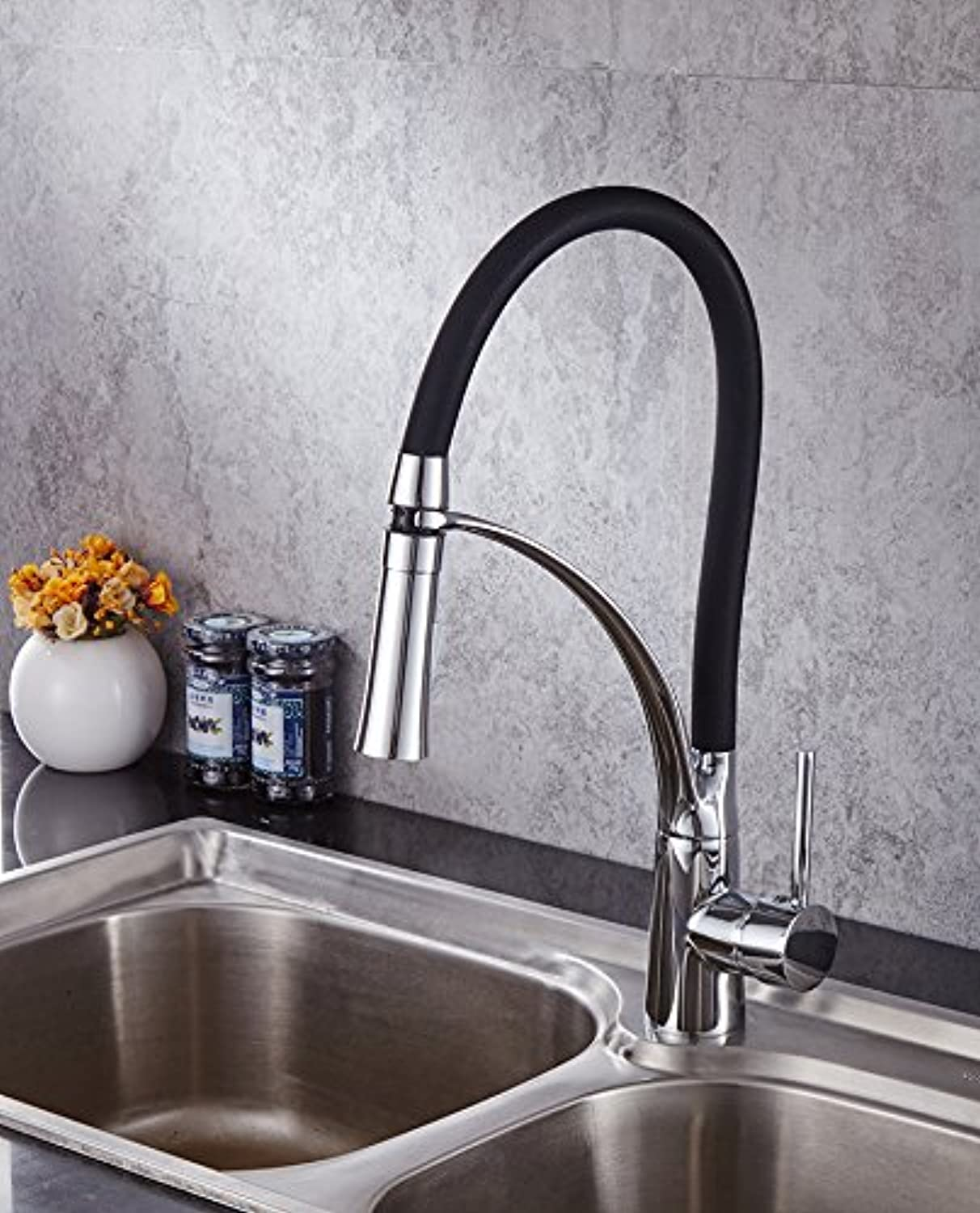 Fbict Kitchen Faucet Spring Kitchen Faucet Spring Faucet Single-Connected greenical Faucet Oukadi for Kitchen Bathroom Faucet Bid Tap
