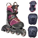 K2 Inline Skate Set MARLEE PRO PACK Für Mädchen Mit K2 Softboot, Purple - Coral, 30E0504