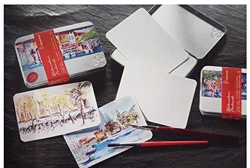 Hahnemühle Coffret Metal de 30tarjetas postales acuarela (grano fino, 230g/m²