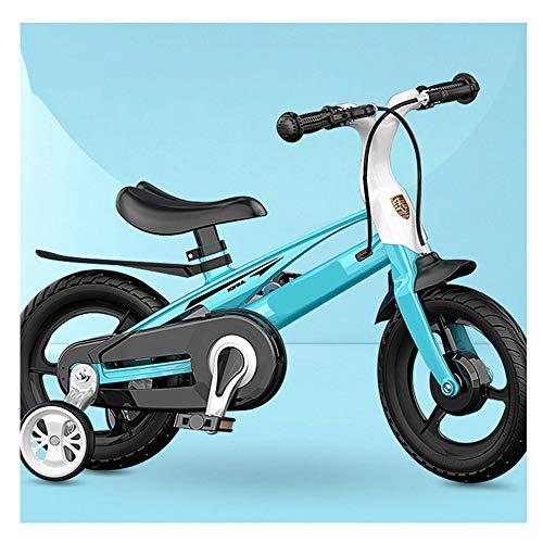 LFFME Bicicleta para Niños con Cuadro De Una Pieza De 12 A 16'para Niñas Y Niños De 3 A 8 Años con Ruedas De Entrenamiento, Frenos De Mano Y Guardabarros,A,16