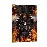 Póster de la serie de televisión de Juego de Tronos, Daenerys Targaryen y trono de hierro, marco de decoración de pared, regalo conmemorativo para hombres y mujeres, dormitorio y sala de estar