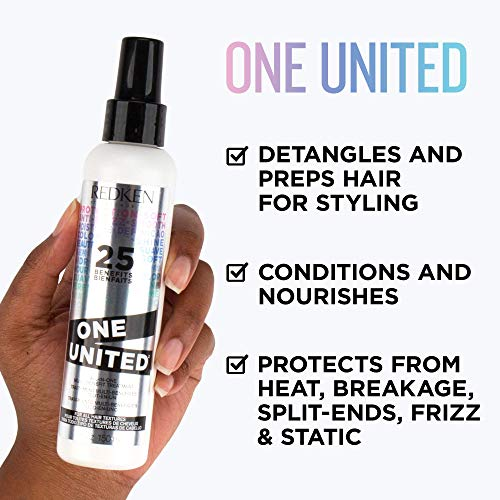 Redken One United All-In-One Leave In Conditioner | Multi-Benefit Treatment | Heat Protectant Spray for Hair | All Hair Types | Paraben Free | 13.5 Fl Oz