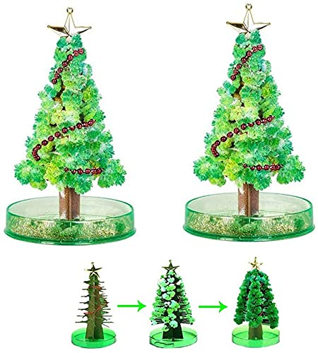 ZORNEPA 2PCS Magic Growing Crystal Christmas Tree, Providing Children...