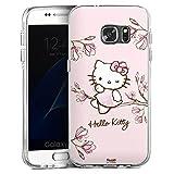 DeinDesign Samsung Galaxy S7 Bumper Hülle Bumper Hülle Schutzhülle Hello Kitty Merchandise Fanartikel Magnolia