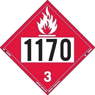 Labelmaster ZT2-1170 UN 1170 Flammable Liquid Hazmat Placard, Tagboard (Pack of 25)