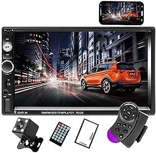 Camecho Podwójne radio samochodowe Din Audio Bluetooth Touch MP5 Player USB FM Android Telefon Lustro Link Entertainment M...