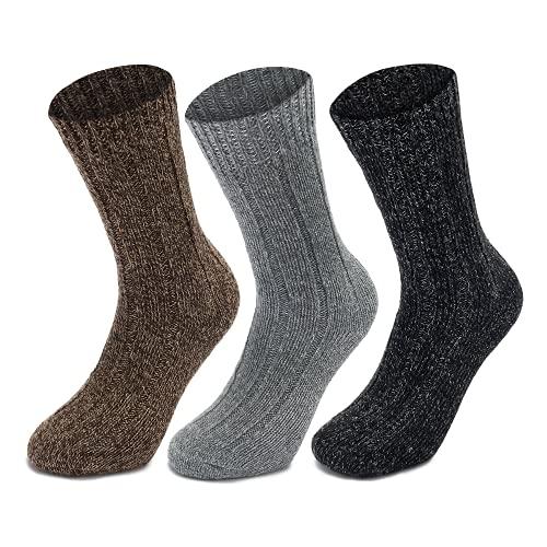 3 Pairs Men's Thermal Socks - Thick Warm Wool Winter Socks (3pk - Mens Thermal UK 6-11)