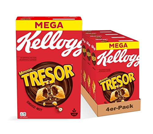 Kellogg's Tresor Choco Nut Cerealien | 4er Vorratspack | 4 x 660g