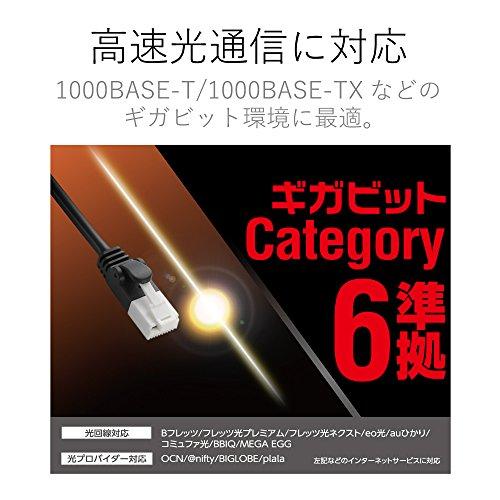 エレコム やわらかLANケーブル CAT6/爪折れ防止/3m ブラック LD-GPYT BK30 1個