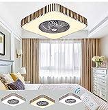 Ventilador de Techo con Mando a Distancia y Luz LED Silencioso Ventilador Lampara Ajustable De Velocidad Invisible, Luces De Techo a Regulable Moderna Plaza para Comedor Dormitorio